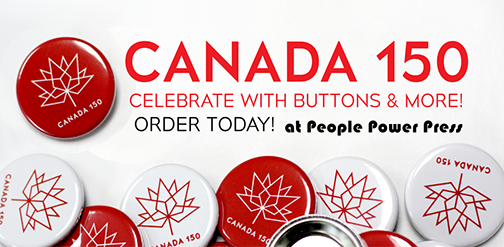Canada 150 year anniversary buttons